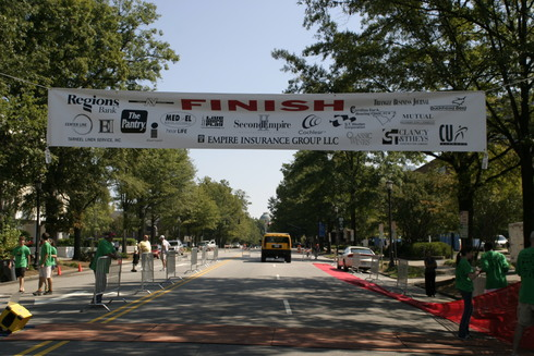 Start/Finish line before 2006 Second Empire 5K Classic