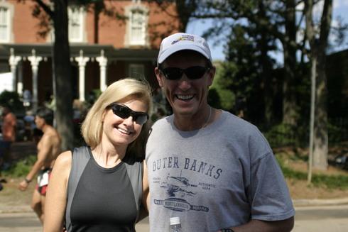 Kim Reynolds and husband Rod Garnas