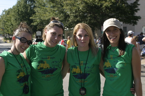 Some of the Second Empire Restaurant staff volunteering on race day of the 2006 Second Empire 5K Classic